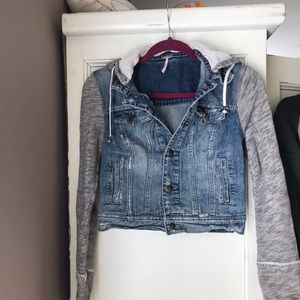 Free People Denim Hoodie